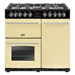 Belling FARMHOUSE DX 90DFT Crm 90cm dual fuel range cooker