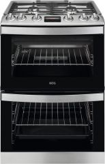 AEG CGB6133CCM 60cm gas double oven cooker