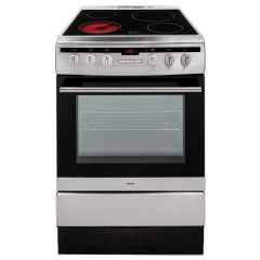Amica 608CE2TAXX 60Cm Single Cavity Ceramic Cooker