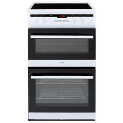 Amica AFC5550WH 50cm ceramic double oven cooker