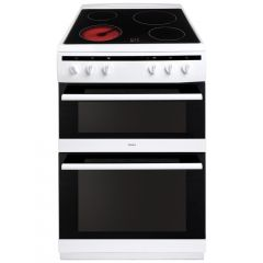 Amica AFC6520WH 60cm ceramic double oven cooker