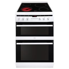 Amica AFC6550WH 60cm ceramic double oven cooker