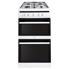 Amica AFG5500WH 50cm double oven gas cooker