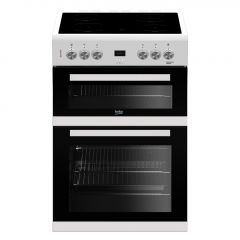 Beko EDC633W 60cm Double Oven Ceramic Cooker