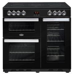 Belling COOKCENTRE90E Blk 90cm electric range cooker