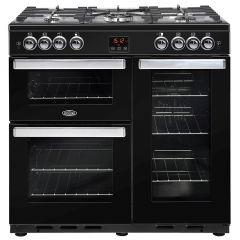Belling COOKCENTRE90G Blk 90cm gas range cooker