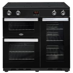 Belling COOKCENTRE90Ei Blk 90cm induction range cooker