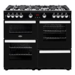 Belling COOKCENTRE100G Blk 100cm gas range cooker