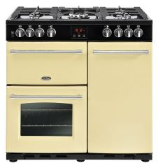 Belling FARMHOUSE90DFT Crm 90cm dual fuel range cooker