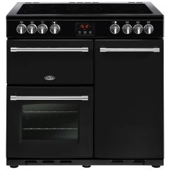 Belling FARMHOUSE90E Blk 90cm electric range cooker