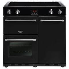 Belling FARMHOUSE90Ei Blk 90cm induction range cooker
