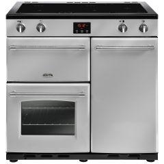 Belling FARMHOUSE90Ei Sil 90cm induction range cooker