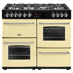 Belling FARMHOUSE100DFT Crm 100cm dual fuel range cooker