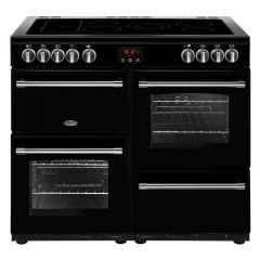 Belling FARMHOUSE100E Blk 100cm electric range cooker