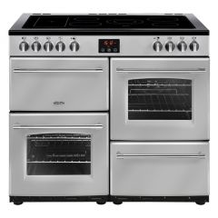 Belling FARMHOUSE100E Sil 100cm electric range cooker