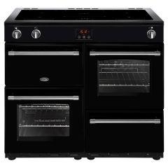 Belling FARMHOUSE100Ei Blk 100cm electric range cooker