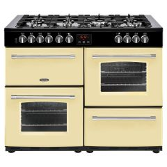 Belling FARMHOUSE110DFT Crm 110cm dual fuel range cooker
