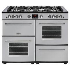 Belling FARMHOUSE110G Sil 110cm gas range cooker