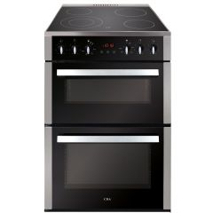 Cda CFC630SS 60cm ceramic double oven cooker