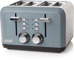Haden 183453 Perth Slate Grey 4 Slice Toaster