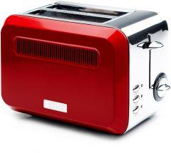 Haden 183514 Boston Red 2 Slice Toaster