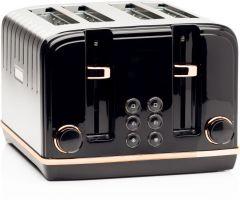 Haden 191168 Salcombe Black + Copper 4 Slice Toaster