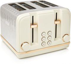 Haden 198785 Salcombe Cream + Copper 4 Slice Toaster