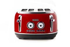 Haden 199386 Jersey Red 4 Slice Toaster