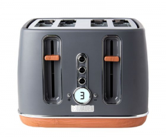 Haden 201317 Dorchester Pebble Grey 4 Slice Toaster