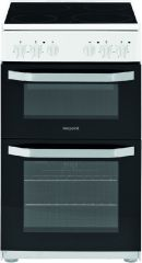 Hotpoint HD5V92KCW 50cm ceramic twin cavity cooker