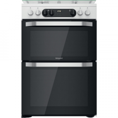 Hotpoint HDM67G9C2CW 60cm dual fuel cooker