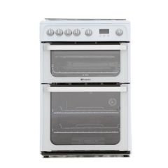 Hotpoint HUG61P 60cm gas double oven cooker