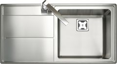 Rangemaster AR9851L/ Arlington single bowl sink left hand drainer