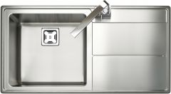 Rangemaster AR9851R/ Arlington single bowl sink right hand drainer