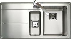 Rangemaster AR9852L/ Arlington 1.5 bowl sink left hand drainer