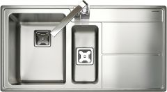 Rangemaster AR9852R/ Arlington 1.5 bowl sink right hand drainer