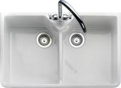 Rangemaster CDB800WH/ Belfast double bowl sink ceramic sink