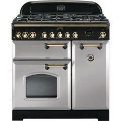 Rangemaster CDL90DFFRP/B Classic Deluxe 90cm dual fuel range cooker