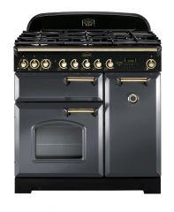 Rangemaster CDL90DFFSL/B Classic Deluxe 90cm dual fuel range cooker