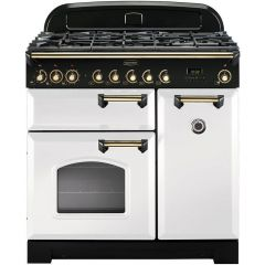 Rangemaster CDL90DFFWH/B Classic Deluxe 90cm dual fuel range cooker