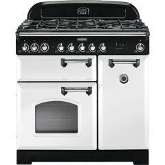 Rangemaster CDL90DFFWH/C Classic Deluxe 90cm dual fuel range cooker