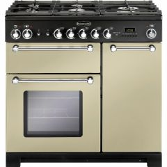 Rangemaster KCH90DFFCR/C Kitchener 90cm dual fuel range cooker