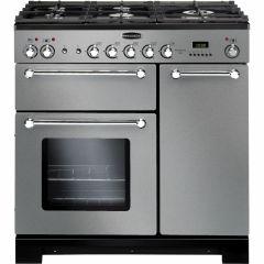 Rangemaster KCH90DFFSS/C Kitchener 90cm dual fuel range cooker