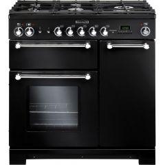 Rangemaster KCH90NGFBL/C Kitchener 90cm gas range cooker