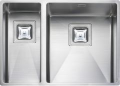Rangemaster KUB3418L/ Kube Undermount 2 bowl sink left hand drainer