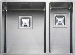 Rangemaster KUB3418R/ Kube Undermount 2 bowl sink right hand drainer