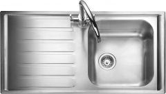 Rangemaster MN10101L/ Manhattan single bowl sink left hand drainer
