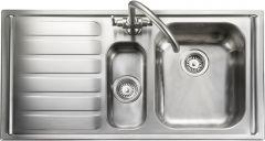 Rangemaster MN10102L/ Manhattan 1.5 bowl sink left hand drainer