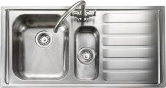 Rangemaster MN10102R/ Manhattan 1.5 bowl sink right hand drainer