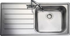 Rangemaster OL9851L/ Oakland single bowl sink left hand drainer